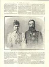 1890 Royal Marriage Berlin Victoria Of Prussia Adolph Of Schaumburg-lippe