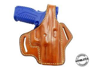 Springfield-XDM-9mm-3-8-034-OWB-Thumb-Break-Leather-Belt-Holster-MyHolster