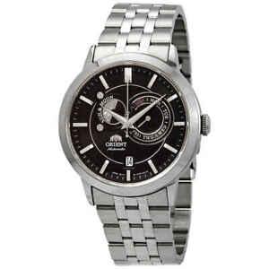 Orient-Sun-and-Moon-Automatic-Black-Dial-Men-039-s-Watch-FET0P002B0
