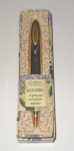 ALEXANDRIA History /& Heraldry Signature Name Pen Stationary Boxed Gift Monogram