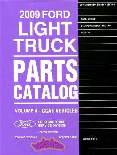 Parts Manual Ford Book Edge Flex Escape Service Repair