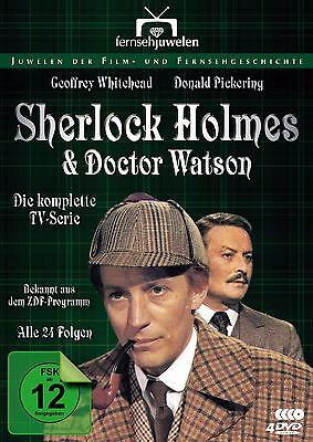 SHERLOCK HOLMES & DOCTOR WATSON 4-DVD-Box Alle 24 Folgen 1979-1980 OVP!
