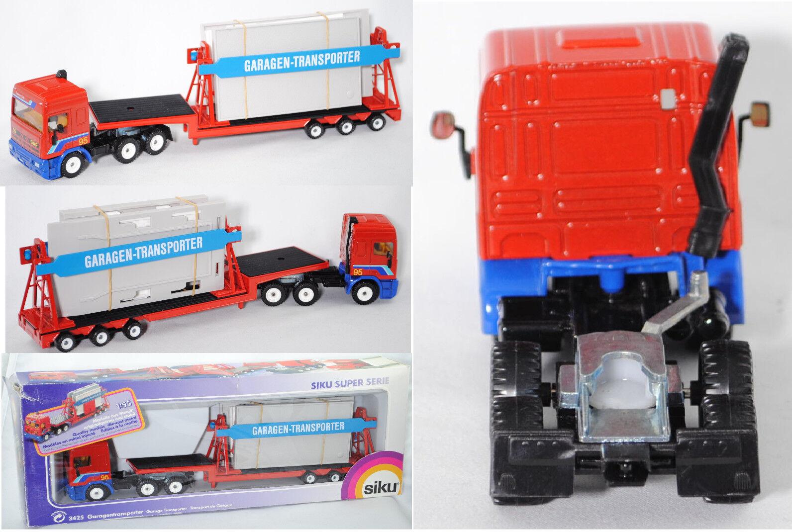 SIKU SUPER 3425 DAF 95 garages transporteur, 1 55, neuf dans sa boîte