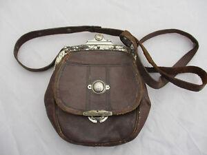 Serving poches monnaie en marron en 40 cuir intérieures Porte Old lanière Well métal aB4tnv