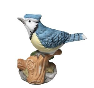 Vintage  Porcelain Blue Jay Figurine from The Whitehall Society