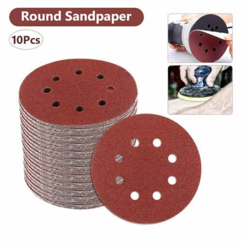 "10Pcs Sanding Discs Sheet Sander Pads Sandpaper 5/"" Hooks and Loops 60-2000 Grits"