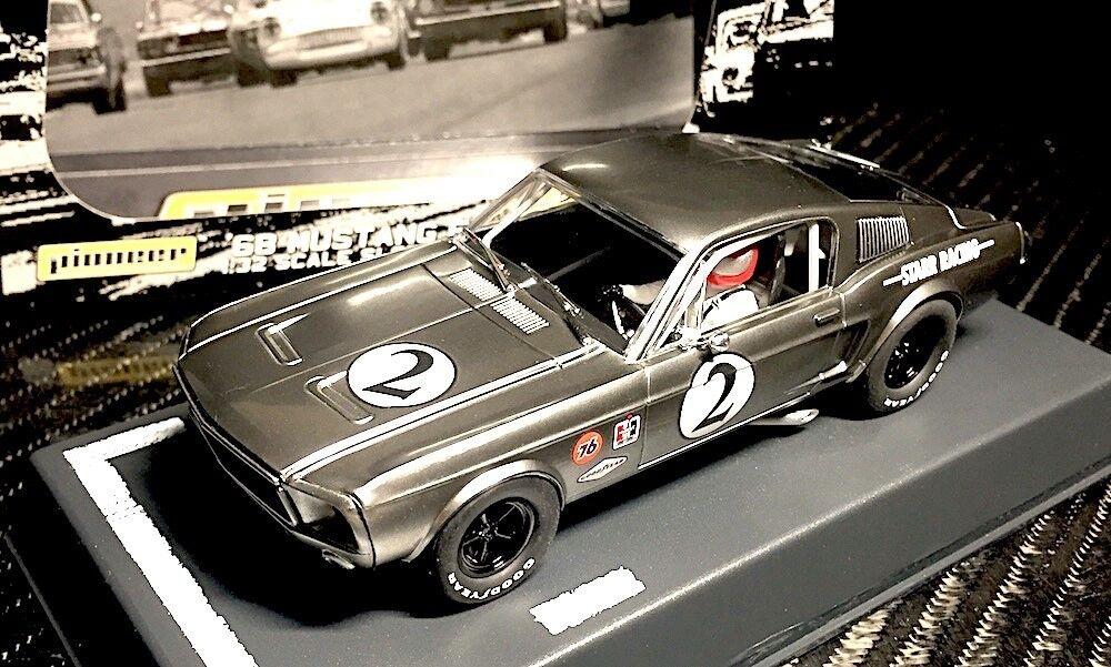 Pioneer slot car P061 FORD MUSTANG 1968 1968 1968 vintage métal nu Racer 2 d0146c
