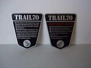 Honda-TRAIL70-CT70-KO-OE-Style-2pc-ALUMINIMUM-Side-Frame-IMPORTANT-Set-69-71