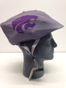 Kansas State Wildcats Helmet Cover Bicycle Skate Moto Helmet Skin Hat Cover.
