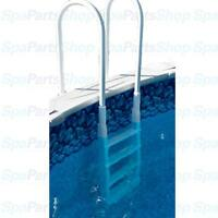 Above Ground Pool In Pool - Deck Mount Ladder Easy Inclined Step 48-54 Depth