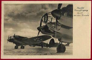 German WW 2 Third Reich postcard LUFTWAFFE Heinkel He 111  Medium bomber