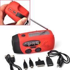 Emergency Solar Hand Crank Dynamo AM/FM/WB Radio LED Flashlight Charger Upscale