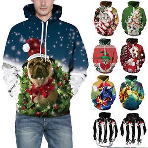 Mens-Womens-Xmas-Christmas-3D-Animal-Print-Hoodie-Sweatshirt-Pullover-Jumper-Top
