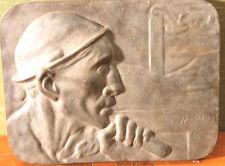 "Constantin Meunier(1831 Brüssel 1905)""Der Bergmann"", Bronce , 14cm x 18 cm x 3cm"