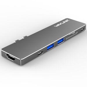 Wavlink-Aluminum-USB-C-Hub-Adapter-amp-Macbook-Pro-2018-2019-13-amp-15-4K-Mini-Dock