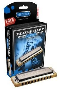 HOHNER-Blues-Harp-MS-Harmonica-Key-of-G-Made-in-Germany-Includes-Case-532BL-G