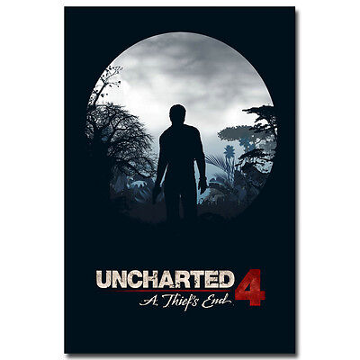 """Uncharted 4 A Thiefs End Game Silk Poster Art Fabric Print 12x18 24x36"""" 010"""
