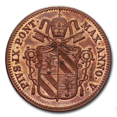 MORUZZI - PIO IX 1 BAIOCCO 1850 (133818) Pius IX Pie IX ...
