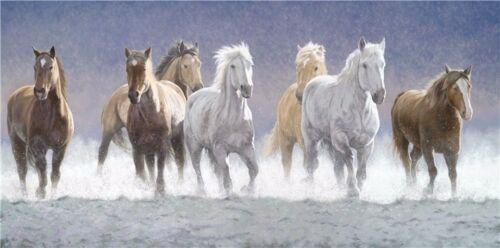 """Running Horse Art Print Wall 48/""""x24/"""" Poster 028"""