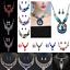 Fashion-Women-Boho-Crystal-Chunky-Pendant-Statement-Choker-Bib-Necklace-Jewelry thumbnail 1