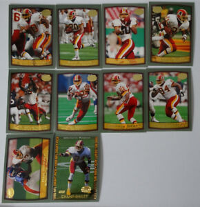 1999-Topps-Washington-Redskins-Team-Set-of-10-Football-Cards