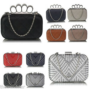 Ladies Clutch Bags Women/'s Prom Party Hard Cases Evening Purses