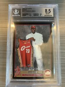 2003-04-Topps-Black-LEBRON-JAMES-221-Rookie-Card-RC-NM-MT-500-Graded-BGS-8-5