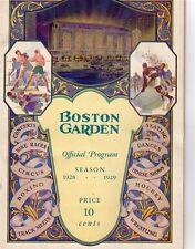 1928-29 Season Boston Garden First Boston Bruins GM/Opening Night Boxing Ex.