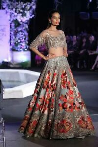 Manish Malhotra Designer Crystal Bollywood Indian Pakistani Bridal Lehenga Gown Ebay