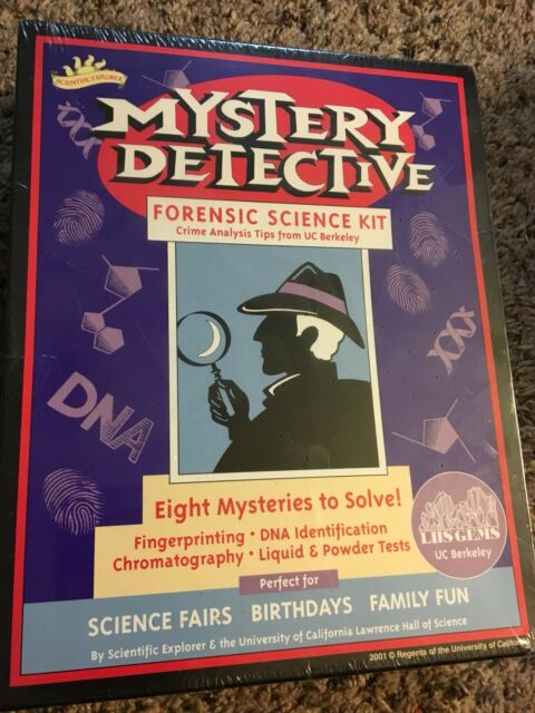 2001 Mystery Detective Forensic Science Kit By Scientific Explorer For Sale Online Ebay