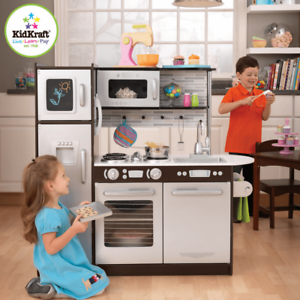 NEW KidKraft Uptown Espresso Kitchen Award Winning Kids Pretend Play ...