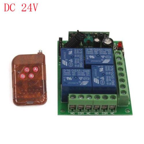 24 V 4CH relais commutateur sans fil télécommande on//off 1//2//3 émetteur récepteur
