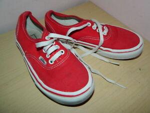 Furgonetas Unido de Reino deporte textil Plimsolls con Eur Zapatillas rojo de para niños cordones 13 31 aarB4SqTn