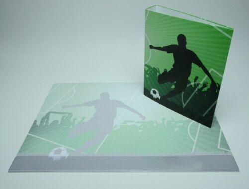 Schreibtischunterlage Papier DIN A2 Fußball//Fußballspieler mit Ordner DIN A4 neu