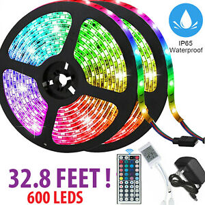 32FT-Flexible-3528-RGB-LED-SMD-Strip-Light-Remote-Fairy-Lights-Room-TV-Party-Bar