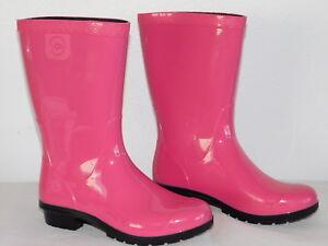 9f3ecc20ff7 NEW KIDS GIRLS 13 DIVA PINK UGG RAANA 1014340K RAIN BOOTS RUBBER ...