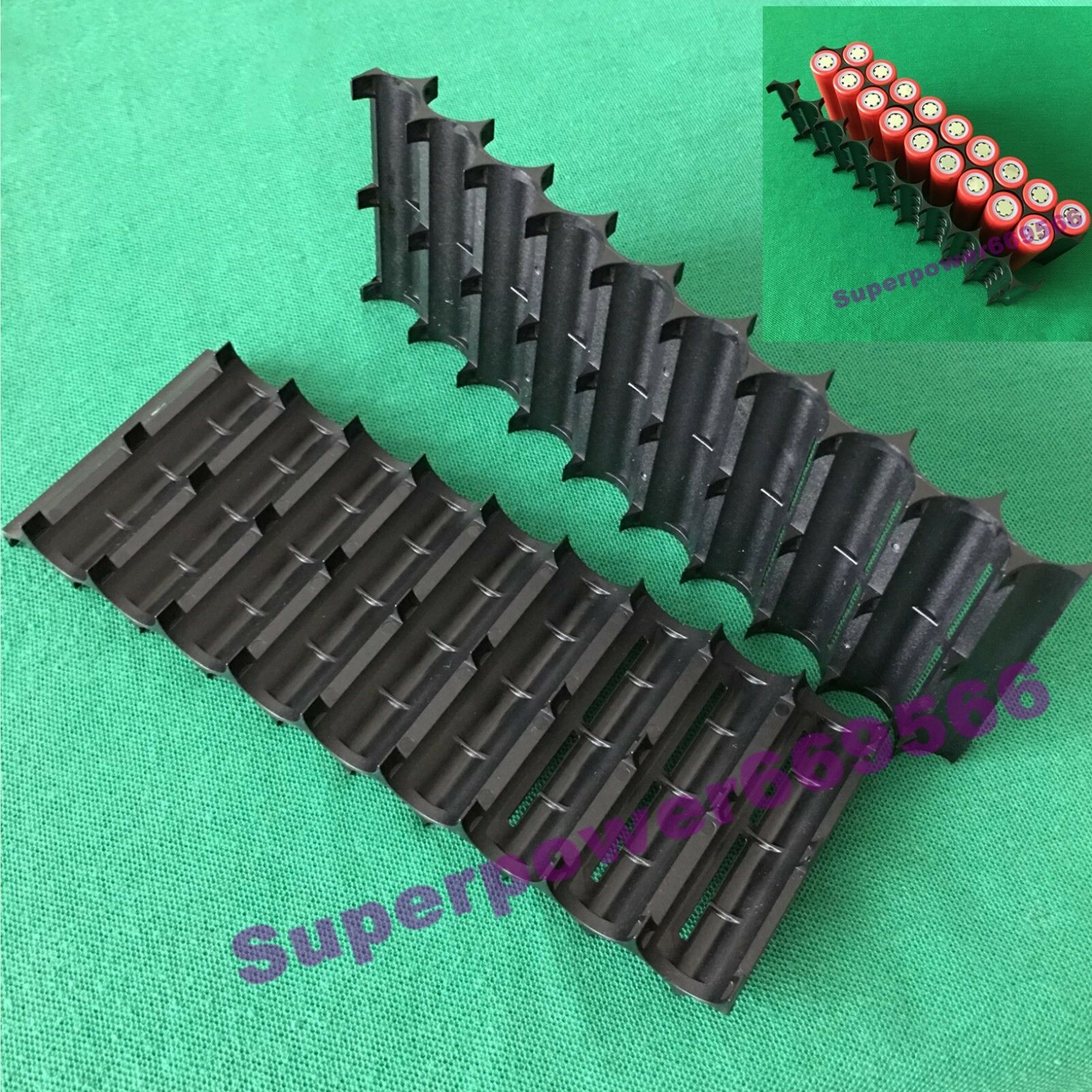 2pc 20*18650 Li-ion safety frame anti vibration bracket plastic holder
