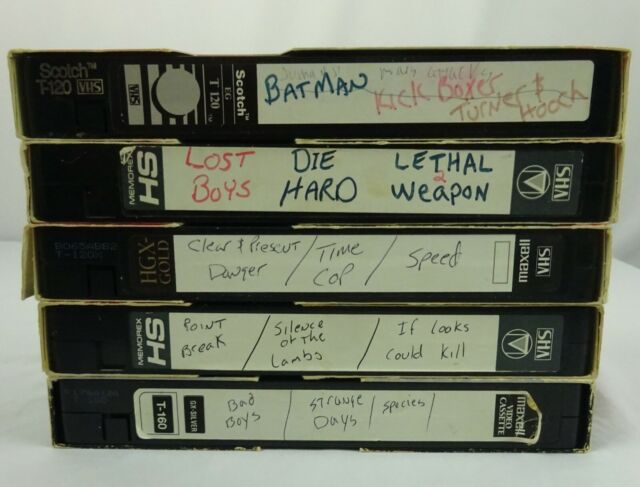 Blank VHS Tapes lot of 5 used tapes C