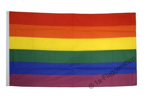 Fahne Flagge Regenbogen - 90 x 150 cm Hissflagge