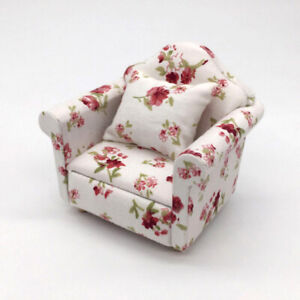 1-12-Dollhouse-Miniature-Furniture-Vintage-Sofa-Armchair-Couch-Decor-Toy-Sanwood