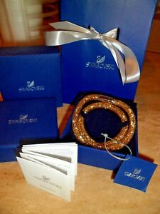 2c7461d23b612 Details about BNIB SWAROVSKI Stardust Gold Double Bracelet *** GIFT BAG  included £79.99