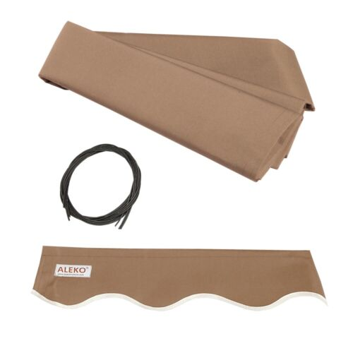 ALEKO Fabric Replacement For 12x10 Ft Retractable Awning Sand Color