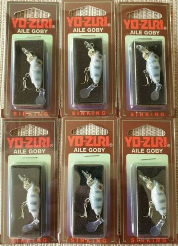 6x Yo Zuri Yozuri AILE GOBY UL Wobbler  30 mm 2,5 g  Japan