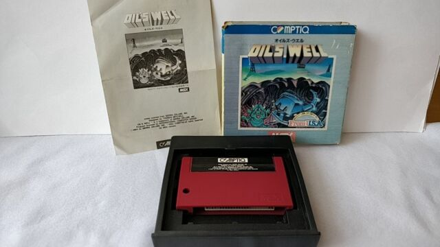 Oil's Well MSX MSX2 Game cartridge,Manual,Boxed set tested -a527-