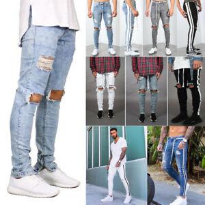 Men-Skinny-jeans-Slim-Fit-Pant-Frayed-Jeans-Denim-Pant-Casual-Pants-stripe-Pant
