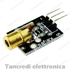 Modulo laser rosso 650nm scheda shield arduino sensore keyes ky-008 5v 5mW