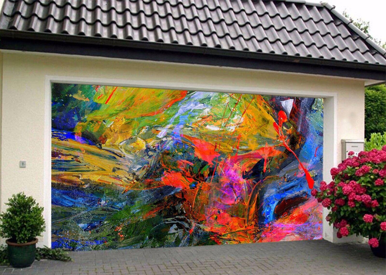 3D color Graffiti  Garage Door Murals Wall Print Decal Wall Deco AJ WALLPAPER UK