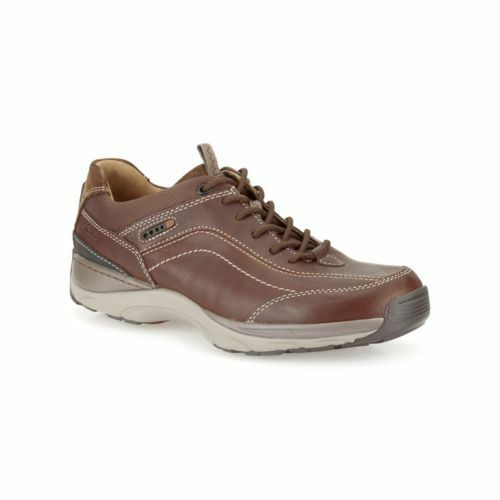 Clarks Original Mens ** Skyward Vibe - Wide Fit Brown Lea , Sporty  Uk 7 / 7.5 H