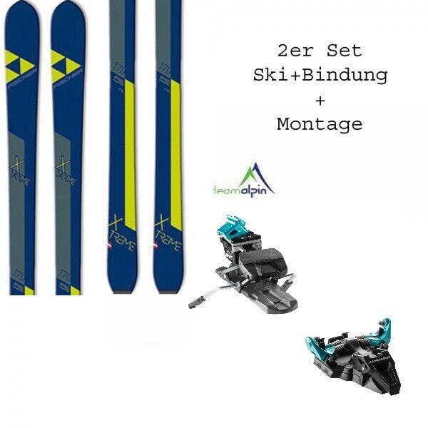 Fischer X-Treme 18 19 Set Rutas de Esquí con Fijación Dynafit º Radical y Tapón