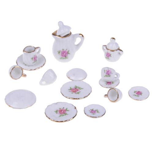 1:12 poupée maison meubles vaisselle 15 PCS poupées miniatures en céramiqBB